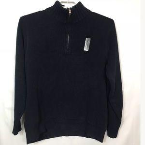 J. Crew Half Zipper Sweater Navy  Soft Knit SZ L